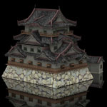Hikone Castle (for Lightwave)
