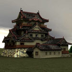 Hikone Castle (for Poser)