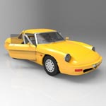 Alfa Romeo Spider (for 3D Studio Max)