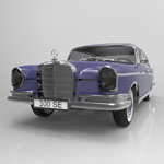 Mercedes 300 SE (for 3D Studio Max)