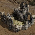Ruined Trollhouse (for DAZ Studio)