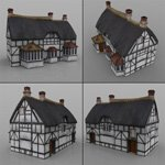 Low Poly Buildings (for DAZ Studio)