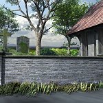 Churchyard and Walls (for Vue)