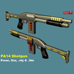 Click to see information about the 'PA14 Shotgun (for Wavefront OBJ)'.