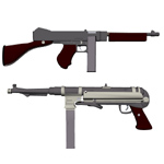Click to see information about the 'Thompson and MP40 Set (for Wavefront OBJ)'.