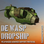 Click to see information about the 'DE WASP Dropship (for Poser)'.