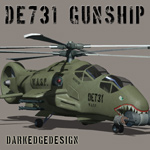 Click to see information about the 'DE 731 Gunship (for Poser)'.