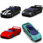Click to see information about the 'Sports Car Pack 1 (for Poser)'.