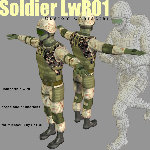 SoldierLWR Pack 1 (for Poser)