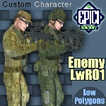 Click to see information about the 'EnemyLWR_01 (for Poser)'.