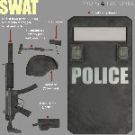 SWAT Soldier Add-On (for Poser)