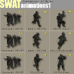 SWAT Animated Poses (for Poser)