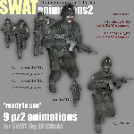 SWAT Animated Poses 2 (for Poser)