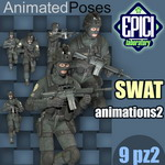 Click to see information about the 'SWAT Animated Poses 2 (for Poser)'.