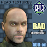 Click to see information about the 'EnemyLWR_01 BAD Add-On (for Poser)'.