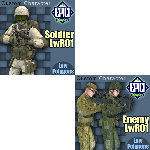 Soldier and Enemy Pack (for Poser)