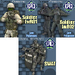 Click to see information about the 'SoldierLWR Pack 1 (for Poser)'.