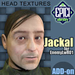 Click to see information about the 'EnemyLWR_01 Jackal Add-On (for Poser)'.