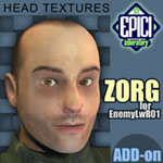 Click to see information about the 'EnemyLWR_01 Zorg Add-On (for Poser)'.
