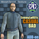 Click to see information about the 'EnemyLWR_01c BAD Casual Add-On (for Poser)'.
