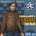 Click to see information about the 'EnemyLWR_01c Jackal (for Poser)'.