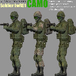 SoldierLWR_01 CAMO Add-On (for Poser)