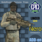 Click to see information about the 'Lince9 Nero (for Poser)'.