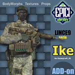 Click to see information about the 'Lince9 Ike (for Poser)'.