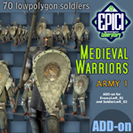 Click to see information about the 'Medieval Warriors 1 (for Poser)'.