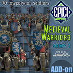 Click to see information about the 'Medieval Warriors 2 (for Poser)'.