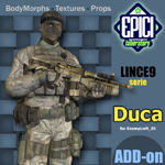 Click to see information about the 'Lince9 Duca (for Poser)'.