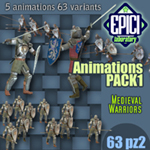 Click to see information about the 'Medieval Warriors Animations (for Poser)'.