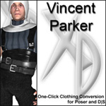 Click to see information about the 'Vincent Parker CrossDresser License'.