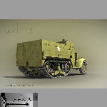 M3A1 Half Track (for Poser)