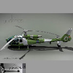 Gazelle Helicopter (for Vue)