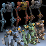 Click to see information about the 'Robot Mech Two-Pack (for Poser)'.