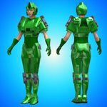 Vorager Armor Texture Add-On (for Poser)