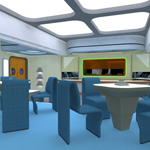 Starship Observation Lounge (for Poser)
