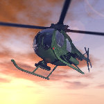 Littlebird Helicopter (for Vue)