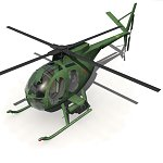 Click to see information about the 'Littlebird Helicopter (for Poser)'.