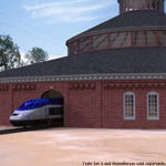Roundhouse Train Station (for Poser)