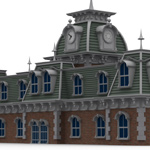 Victorian Train Station (for Poser)