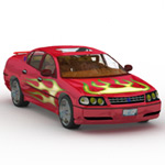 Veepster: Flaming Racing Texture Set