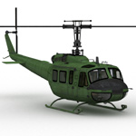 Huey-type Helicopter (for Poser)