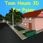 Click to see information about the 'Toon House (for Poser)'.