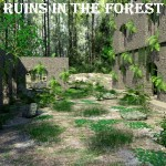 Ruins in the Forest (for DAZ Studio)