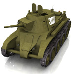 Click to see information about the 'BT-7 Soviet Cavalry Tank (for Poser)'.