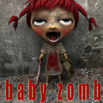Click to see information about the 'Baby Zomb (for Poser)'.