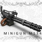 Click to see information about the 'Gatling Gun (for Poser)'.