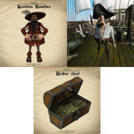Click to see information about the 'Pirate Pack (for Poser)'.